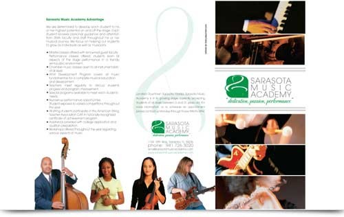 Sarasota music center brochure design