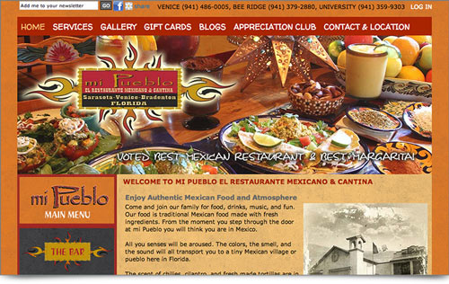 website Mi Pueblo Restaurants