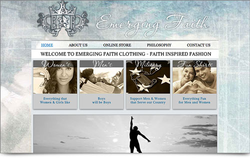 Emerging Faith Clothing Website