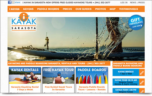 I Kayak Sarasota Website