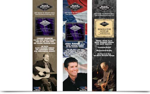Black Diamond Strings Bluegrass Ads