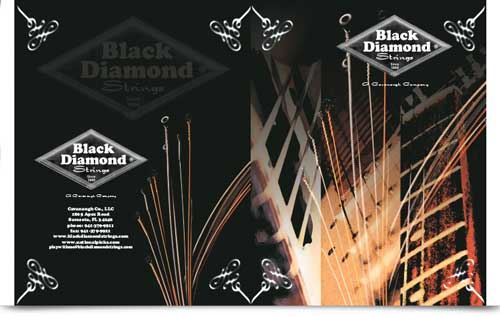 Black Diamond Strings Brochure Design