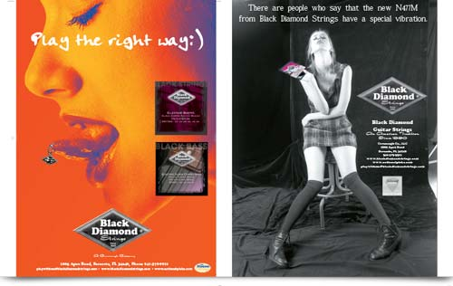 Black Diamond Ad campaign for black strings