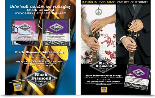 Black Diamond Guitar Strings Ad campaign
