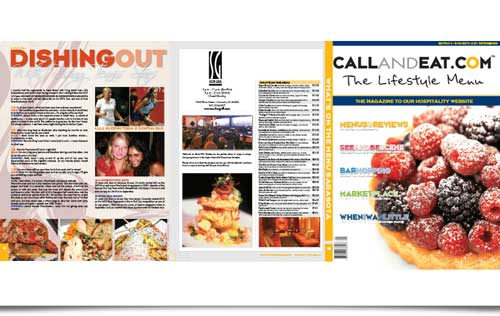 Call and Eat Magazine design