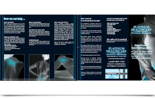 Platinum Healthcare Trifold design