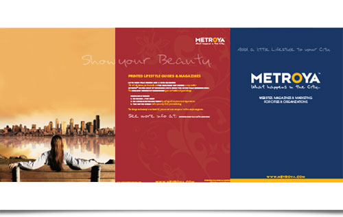 Metroya Website Management System Brochure design