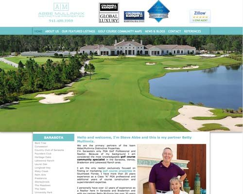 sarasota golf properties website