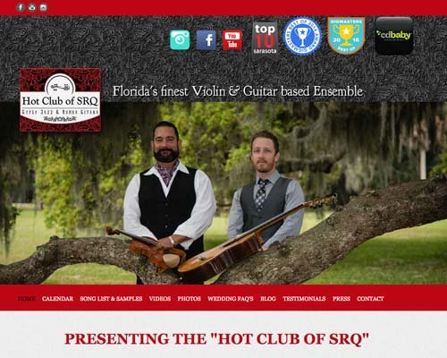 Hot Club of SRQ Website Image