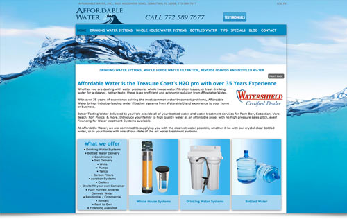 Affordable Water, whole house water filtration systems vero beach