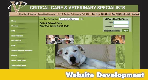 Sarasota Website Design Critical Care
