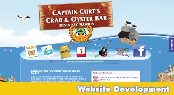 Sarasota Website Design Captain Curts